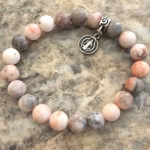 Jasper stone prayer bead bracelet